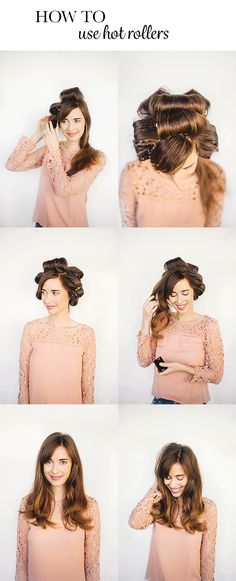 how to use hot rollers hair tutorial M Loves M @marmar