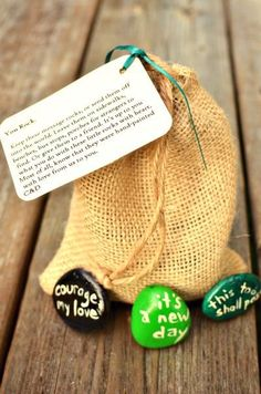 DIY Tutorial: Bridal Shower / DIY Message Stone Favors - Bead&Cord