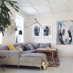 my scandinavian home: A Danish Home That's Sunny On The Inside (artwork by home-owner Bettina Holst)