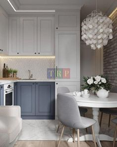 Grey kitchen ideas brings an excellent breakthrough idea in designing our kitchen. Grey kitchen color will make our kitchen look expensive and luxury. Grey Kitchen Designs, Interior Design Living Room, Grey Interior Design, Grey Kitchens, Home Kitchens, Kitchen Grey, Küchen Design, Home Design, Design Ideas
