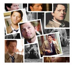"""""""Castiel, an angel of the Lord"""" by myfics222 ❤ liked on Polyvore featuring art"""