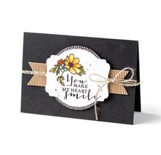 Black, White and Brown : Smile Card. Stampin' Up! Australia.