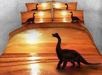 New Gorgeous Dinosaur Digital Printing 4-Piece 3D Duvet Cover Sets Animal Bedding set Bed sheets Bedspread Twin/Full/Queen/ King