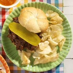 Very Best Barbecue Beef Sandwiches ~ Simple and so good friends will beg for the recipe, these sweet and tangy barbecue beef sandwiches definitely live up to their name.