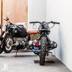 In the hallway --- Photo courtesy of @jacksonkunis Bikes built by @arjanvandenboom --- #caferacer #caferacerxxx #caferacersofinstagram #caferacerculture #caferacerporn #caferacerworld #caferacerclub #caferacergram #caferacersociety #croig #bratcafe #bratstyle #bratbike #tracker #bobber #scrambler #streettracker #custommotorcycle #bobberlife #vintagemotorcycle #custombuilt #builtnotbought #stocksucks #cool #bmwmotorrad #garagebuilt #subculture #badass #bikeporn #ride