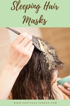 Sleeping Hair Masks #Hair #Haircare #Hairmasks Sleep Hairstyles, Diy Hairstyles, Overnight Hair Mask, Overnight Hairstyles, Honey Face Mask, Hair Mask For Growth, Regrow Hair, Home Remedies For Hair, Hair Masks
