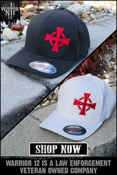 The Warrior 12 crusader cross is now available on black and white flexfit hats. Warrior 12 is a law enforcement veteran-owned company. Fire Helmet, Warriors Shirt, Viking Life, Templer, Marquesan Tattoos, Things To Buy, Stuff To Buy, Riding Gear, Knights Templar