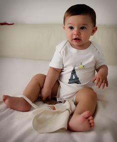 Body Tour Eiffel per neonati e bambini in cotone biologico Why Not?