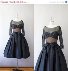 SALE // 1950s Edward Abbott illusion party dress / by Coralroot, $158.40
