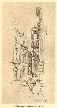 Bertram Grovenor Goodhue, Architect (1869-1924) Pencil Drawing. In the Borga (736×1387)
