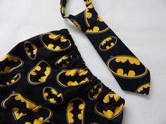 batman diaper cover or shorts with matching by SnazzyBoyClothing