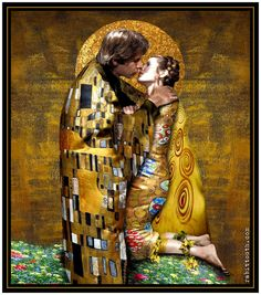 The kiss Klimt inspired han and leia, by rabbittooth.