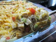 baked cream cheese chicken spaghetti on http://www.pomanmeals.com   No cream of anything soup in the ingredients