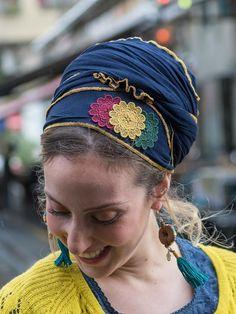Perfect Soft Blue Tichel, Three Flowers Head Scarf, Headscarf, Hair Snood, Head Scarf, Head Covering, Jewish headcovering, Bandana, Apron http://etsy.me/2pz7eyy #accessories #hat #blue #wedding #valentinesday #tichel