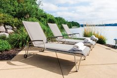 Lloyd Flanders Poolside Chaises: relax in style.