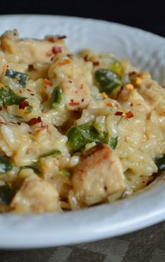 Spicy Chicken Poblano Risotto