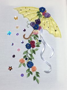 Brazilian Embroidery ~ April Showers by Threads in Bloom