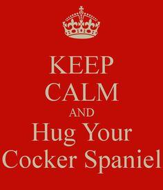 KEEP CALM AND Hug Your Cocker Spaniel