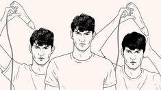 머리 제대로 말리는 법 Men Style Tips, Life Hacks, Infographic, Hair Beauty, Mens Fashion, Drawings, Hair Styles, Collection, Moda Masculina