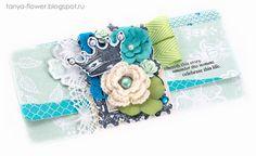 Tanya Flower: Подарочный конверт Morning Star - Green. Galeria Papiery