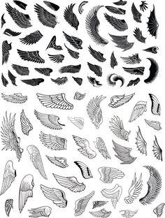 Alas k tattoo, tattoo wings, wing tattoo designs, angel tattoo desi Wing Tattoo Designs, Skull Tattoo Design, Dragon Tattoo Designs, Body Art Tattoos, Tattoo Drawings, Dove Tattoos, Small Wing Tattoos, Eagle Wing Tattoos, Hanya Tattoo