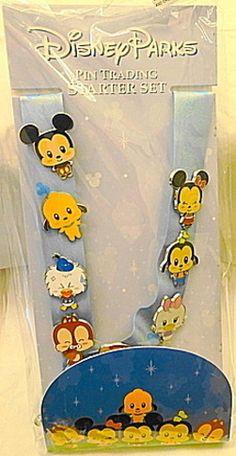 Disney Cuties Mickey & Friends PWP 8 Pin Lanyard Starter Set New In Pack $44.99