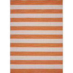 Handmade Flat Weave Stripe Red/ Orange Wool Rug (9u0027 X ...