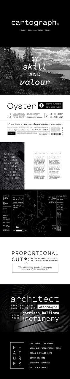 Cartograph CF: handy monospace font. Sans Serif Fonts. $29.00