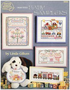 Cross Stitch Baby Samplers Pattern Leaflet - $3.00