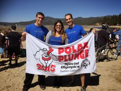 """On March 8, 2015, three of our brave #aTYPicals took a plunge into the chilly waters of #BigBearLake to support @SpecialOlympics. Check out the """"cool"""" time lapse photos!! Many thanks to all of you who donated to the cause and came to watch from the warmer, drier shore. #PolarPlunge #FreezeinForAReason"""