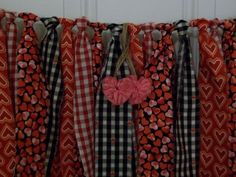 Valentine Rag Tie Garland Fabric Bunting by AWorldtoEmbellish