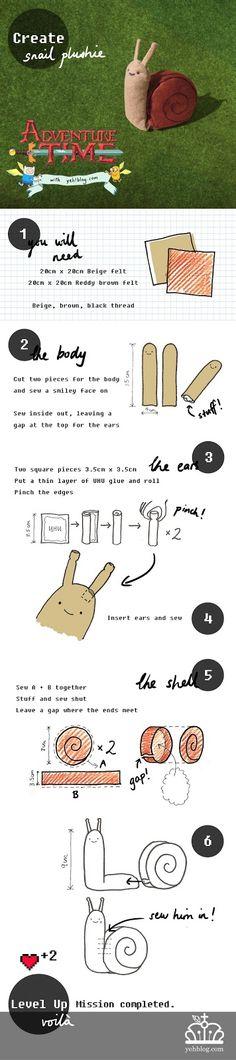 Adventure Time DIY Snail Plushie