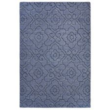 Emilia Carved Blue 9x12 Rug