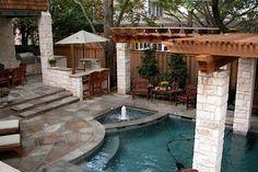 Small Backyard Oasis contemporary pool