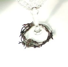 Crown Of Thorns Leather Bracelet Easter Lent Boho by FriarFreds only $12