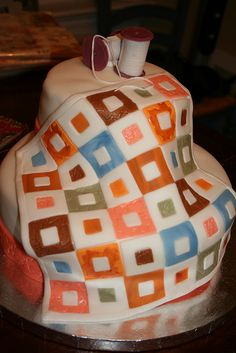 Quilters cake!  Fabulous!