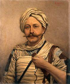 """Rudolf Slatin """"Slatin Pachá"""". Aventurero, explorador  y militar austriaco al servicio del gobierno egipcio."""