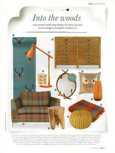 Our Tree trunk stool looking very on-trend in November's issue of Homes & Antiques.