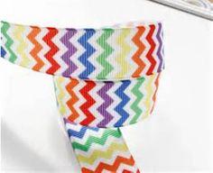 Rainbow Chevron Ribbon 5 yards inch by HairbowSuppliesEtc Chevron Ribbon, Ribbon Bows, Grosgrain Ribbon, Rainbow Chevron, Rainbow Ribbon, Wholesale Ribbon, Printed Ribbon, Hair Bows, Unique Jewelry