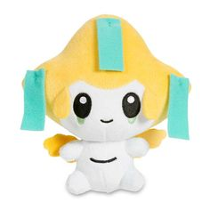 Official Jirachi Poké Plush. Includes Jirachi's wish tags and yellow hat-like head. Uses the cute and cuddly Poké Doll style.