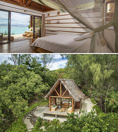 Escape to a luxury hotel & resort in Madagascar on a private island, in the Mitiso archipelago. Casa Hotel, Hut House, Jungle House, Diy Cabin, Island Villa, Koh Chang, Beach Bungalows, Farm Stay, Tiny Cottages