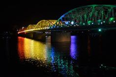 New Zealand Nightlife | ... Tien bridge lit up at night, Hue, Vietnam | Freeds in New Zealand