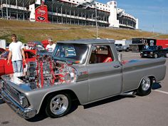 now that's a motor!  1965 Chevy Truck