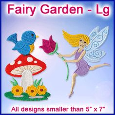 A Fairy Garden Design Pack - Lg design (X12478) from www.Emblibrary.com