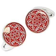 A sterling silver round button cufflink painted in vibrant English enamel with a detailed Florentine pattern. See more English Enamel cufflinks at Jan Leslie of NYC. Jewelry Accessories, Fashion Accessories, Sterling Silver Cufflinks, Gents Fashion, Jewel Box, Silver Rounds, Enamel, Bling, Jewels