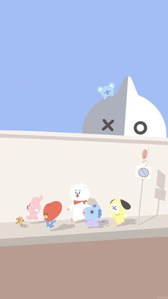 Read from the story BTS Wallpapers by with reads. Lock Screen Wallpaper, Bts Wallpaper, Iphone Wallpaper, Bts Chibi, Bts Cute, Line Friends, Bts Drawings, Fan Art, Bts Fans