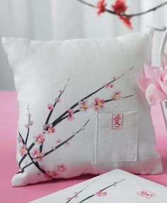 Cherry Blossom Square Ring Pillow: $23.85