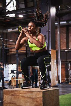 An editor tries #UnderArmour No-Slip Waistband Leggings. #ad Hiit Class, High Intensity Workout, Workout Gear, Under Armour, Sporty, Leggings, Fitness Gear, Running, Editor
