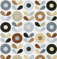 Scandinavian Fabric Cirkelblomma by Kinnimark door MeggyMagpie