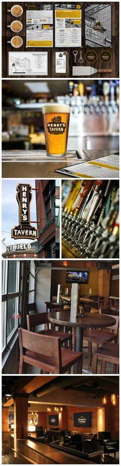 Henry's Tavern, Restaurant Design, Branding & Identity, Graphic Design, Design by Bar Napkin Productions, #BarNapkinProductions